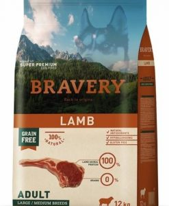 Granule pro psy BRAVERY dog ADULT large / medium LAMB - 2 x 12kg + 4kg GRATIS