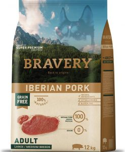 Granule pro psy BRAVERY dog ADULT large / medium PORK - 12kg + 4kg GRATIS