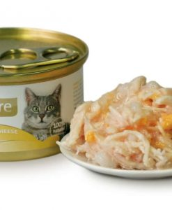 Konzervy BRIT CARE cat konzerva CHICKEN BREAST/CHEESE - 80g