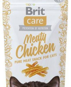 Pamlsky a pochoutky BRIT CARE cat SNACK  MEATY CHICKEN  - 50g