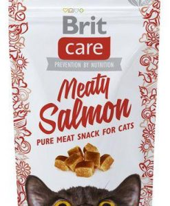 Pamlsky a pochoutky BRIT CARE cat SNACK  MEATY SALMON   - 50g