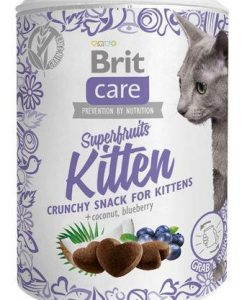 Pamlsky a pochoutky BRIT CARE cat SNACK  SUPERFRUITS  KITTEN  - 100g