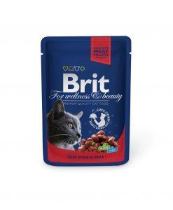 Kapsy BRIT cat   kapsa   ADULT 100g           - BEEF stew/peans