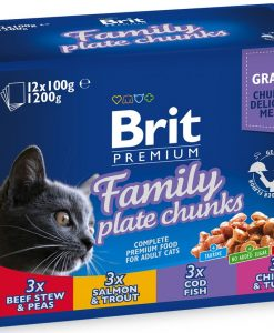 Kapsy BRIT cat kapsa FAMILY PLATE - 12x100g