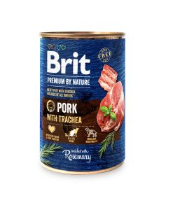 Konzervy BRIT dog Premium by Nature PORK with TRACHEA   - 400g