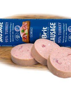Salámky BRIT dog  sausage TURKEY/rice               - 800g