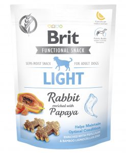Pamlsky a pochoutky BRIT snack LIGHT rabbit/papaya - 150g