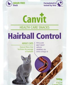 Vitamíny CANVIT cat   GF HAIRBALL control  duck         - 100g