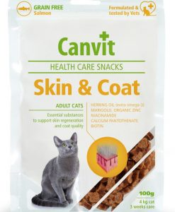 Vitamíny CANVIT cat   GF SKIN/COAT  salmon                        - 100g