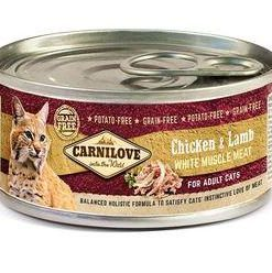 Konzervy CARNILOVE cat konz. ADULT CHICKEN/lamb - 100g