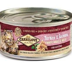 Konzervy CARNILOVE cat konz. KITTEN TURKEY/salmon  - 100g
