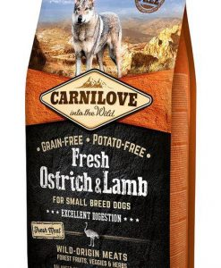 Granule pro psy CARNILOVE dog   FRESH  ADULT  SMALL OSTRICH/lamb  - 6kg