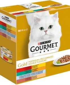Konzervy GOURMET GOLD  DOUBLE PLEASURE - 8 x 85g