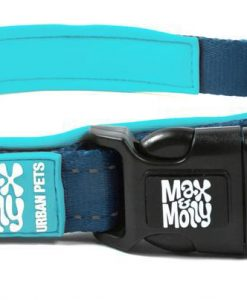 Obojky MAX and MOLLY obojek  MATRIX SKY BLUE - M: 2cm/34-55cm