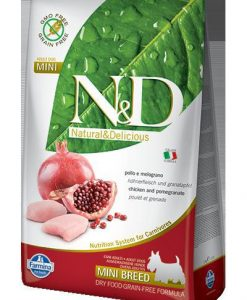 Granule pro psy N&D dog GF ADULT MINI CHICKEN / POMEGRANATE - 2.5kg