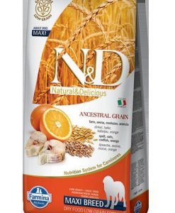 Granule pro psy N&D dog LG ADULT MAXI CODFISH / ORANGE - 12kg