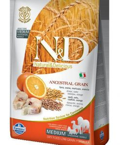 Granule pro psy N&D dog LG ADULT MEDIUM CODFISH / ORANGE - 800g