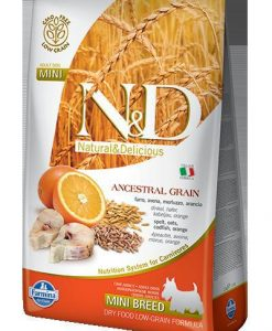 Granule pro psy N&D dog LG ADULT MINI CODFISH / ORANGE - 800g