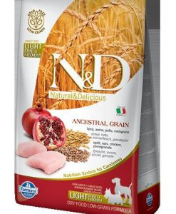 Granule pro psy N&D dog LG LIGHT CHICKEN / POMEGRANATE - 12kg (medium/large)