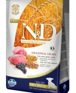 Granule pro psy N&D dog LG PUPPY MINI LAMB / BLUEBERRY - 800g