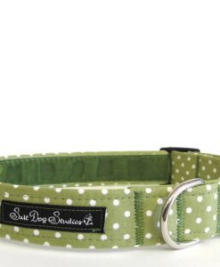 Obojky Obojek  GREEN polka dot DOLLY                   - 38-60 / 2