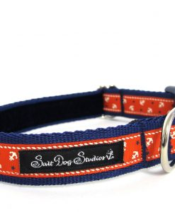 Obojky Obojek  LITTLE sailors RED on NAVY                 - 22-38 / 2