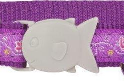 Obojky Obojek RD  cat BUTTERFLY purple  - 1