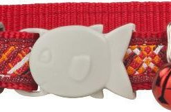 Obojky Obojek RD  cat FLANNO red  - 1
