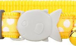 Obojky Obojek RD  cat WHITE spots on YELLOW   - 12mm/20-32cm