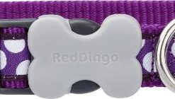 Obojky Obojek RD WHITE spots on PURPLE   - 2