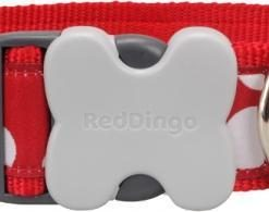 Obojky Obojek RD White Spots on Red - 2