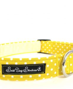 Obojky Obojek  YELLOW polka DOT dolly                   - 30-60 / 2