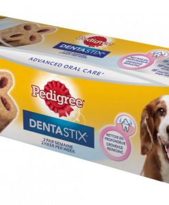 Pamlsky a pochoutky PEDIGREE pochoutka DENTA stix Twice Weekly   - MEDIUM  80g/1ks