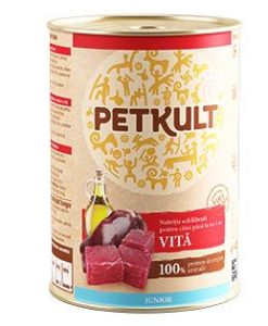 Konzervy PETKULT   dog konz.  JUNIOR - krocan 400g  (5+1ks)