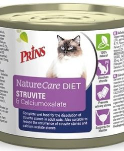 Konzervy PRINS NatureCare Veterinary Diet STRUVITE & Calciumoxalate - 200 g