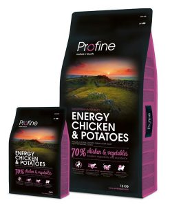 Granule pro psy PROFINE  ENERGY Chicken/Potatoes                         - 15kg