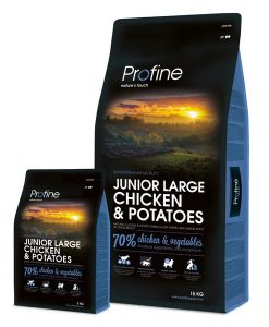 Granule pro psy PROFINE   JUNIOR LARGE Chicken  - 15kg