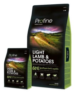 Granule pro psy Profine LIGHT LAMB/Potatoes     - 15kg