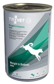 Konzervy Trovet  dog (dieta)  Weight a Diabetic WRD    konzerva         - 400g