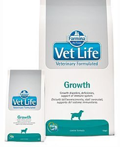 Granule pro psy VET LIFE  dog  GROWTH natural  - 12kg