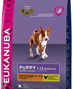 Granule pro psy Eukanuba    PUPPY/JUNIOR   medium  - 15 + 3kg GRATIS
