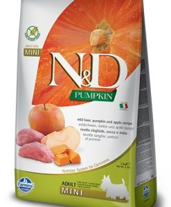 Granule pro psy N&D dog GF PUMPKIN ADULT MINI boar/apple - 800g