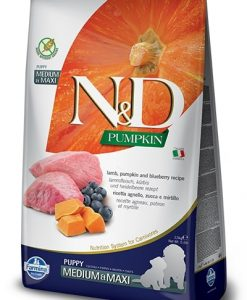 Granule pro psy N&D dog GF PUMPKIN PUPPY MEDIUM/MAXI lamb/blueberry - 12kg
