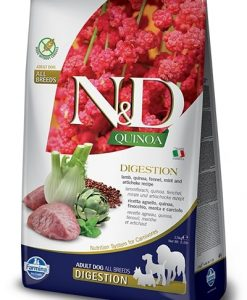 Granule pro psy N&D dog GF QUINOA digestion LAMB/fennel - 800g