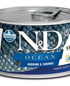 Konzervy N&D dog OCEAN konz. ADULT MINI herring/shrimps   - 140g