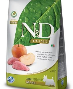 Granule pro psy N&D dog PRIME ADULT MINI boar/apple   - 7kg