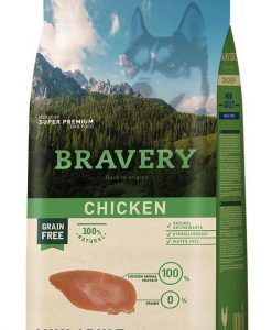 Vzorky VZOREK - BRAVERY dog  ADULT  mini CHICKEN                      - 70g