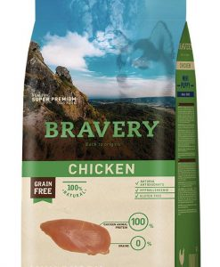 Vzorky VZOREK - BRAVERY dog   PUPPY  mini CHICKEN                         - 70g