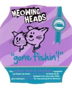 Konzervy Meowing Heads konz.  GONE FISHING   - 100g