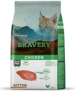 Vzorky VZOREK - BRAVERY  cat  KITTEN   CHICKEN   - 70g